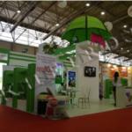 3D Logolu Özel Tasarım Ahşap Agro Expo Fuar Standı