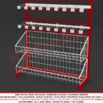 Metal Konstrüksüyonlu Kuruyemiş Standı