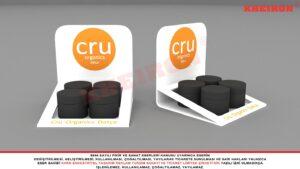 Arkalık Sırtlı Masaüstü OTC Kozmetik Standı